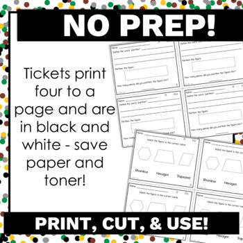 2nd Grade Math Exit Tickets for Every Geometry Standard