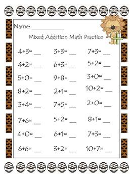 2nd Grade Math Fact Packet