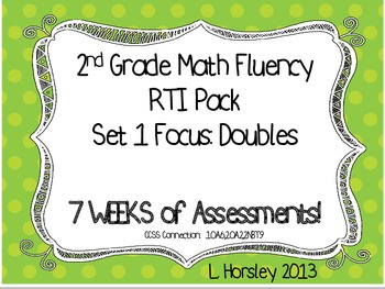 2nd Grade Math Fluency RTI Set 1