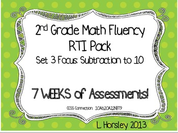 2nd Grade Math Fluency RTI Set 3
