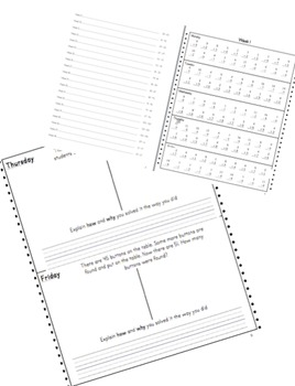 2nd Grade Math Fluency and Application Workbook **FULL YEAR**