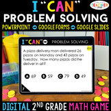 2nd Grade Math Game DIGITAL | Problem Solving | One and Tw