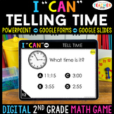 2nd Grade Math Game DIGITAL | Telling Time | Distance Learning