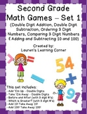 2nd Grade Math Games - Set 1 - Common Core Aligned