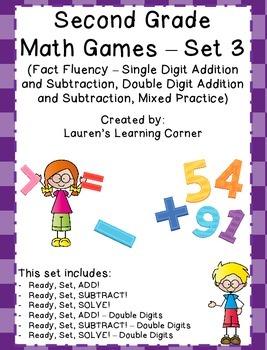 2nd Grade Math Games - Set 3 - Common Core Aligned