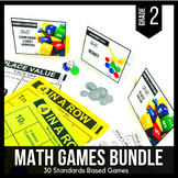 2nd Grade Math Games and Centers BUNDLE - Ready Set Play