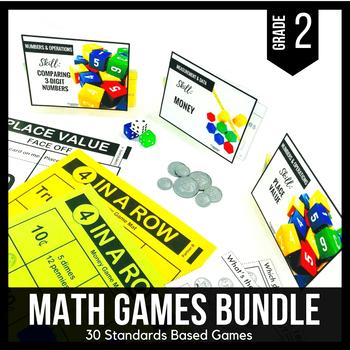 2nd Grade Math Centers   2nd Grade Math Games BUNDLE - Ready Set Play