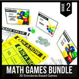 2nd Grade Math Centers   2nd Grade Math Games BUNDLE - Rea