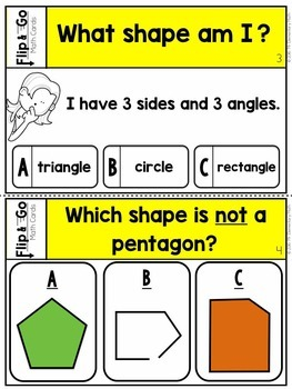 Geometry - 2nd Grade Math Flip and Go Cards