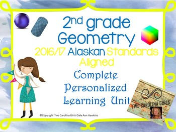 2nd Grade Math - Geometry Personalized Learning Unit Alaskan Standards Aligned