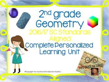 2nd Grade Math - Geometry Personalized Learning Unit SC Standards Aligned