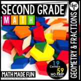 2nd Grade Math: Geometry and Fractions