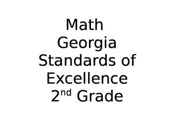 2nd Grade Math Georgia Standards of Excellence