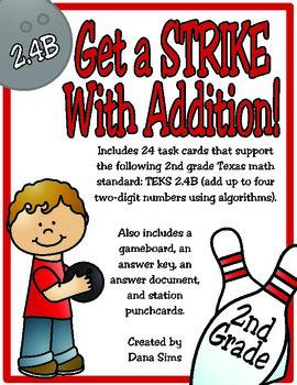 2nd Grade Math: Get a STRIKE with Addition! (TEKS 2.4B)