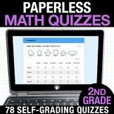 2nd Grade Math Google FORMS | Assessments for Google Class