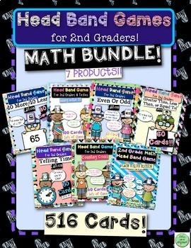 2nd Grade Math Head Bands BUNDLE!!!