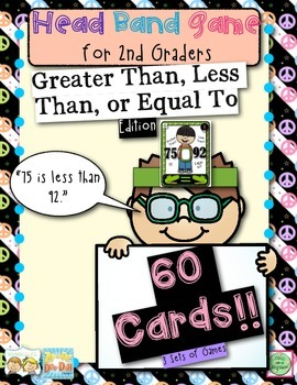 2nd Grade Math Head Bands Game for Comparing Numbers