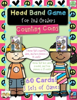 2nd Grade Math Head Bands Game for Counting Coins