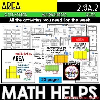 Area 2.G.A.2  2nd Grade Math Helps