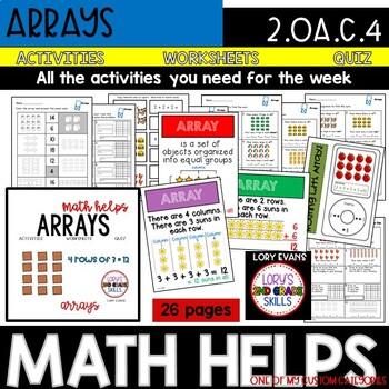 Arrays 2.OA.C.4 2nd Grade Math Helps