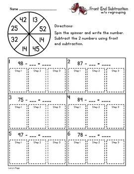 Front End Subtraction  2.NBT.B.5   2nd Grade Math Helps