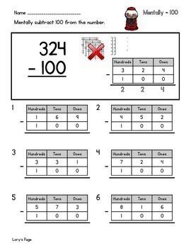 Mentally - 100  2.NBT.B.8  2nd Grade Math Helps