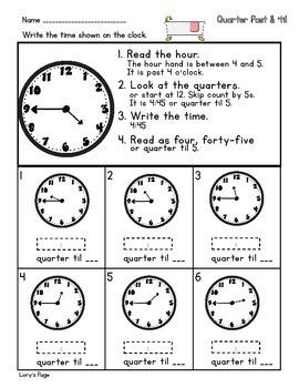 Quarter Past/ Til  2.MD.C.7  2nd Grade Math Helps
