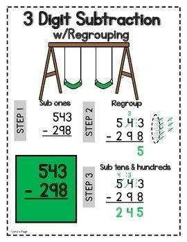 3 Digit Subtraction w/Regrouping  2.NBT.B.7  2nd Grade Math Helps