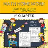 2nd Grade Math Homework - 1st Quarter