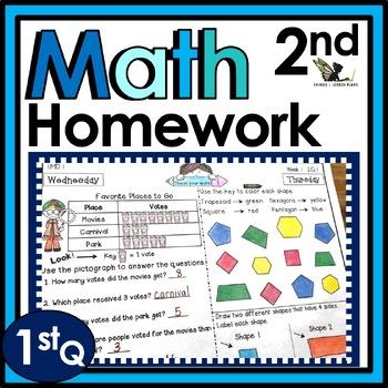 Second Grade Math Homework - 1st quarter
