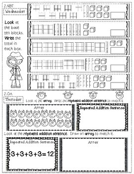 2nd Grade Math Homework - 4th Quarter