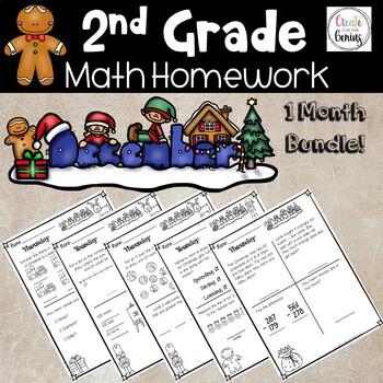 2nd Grade Math Homework- December
