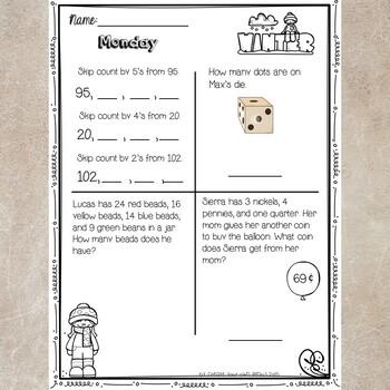 2nd Grade Math Homework- January