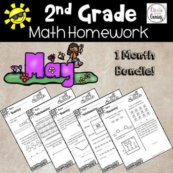 2nd Grade Math Homework- May