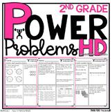 2nd Grade Math Homework Printables YEARLONG BUNDLE Spiral Review Power Problems™