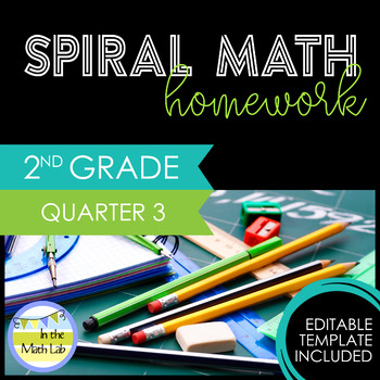 Math Homework 2nd Grade - Quarter 3 by In the Math Lab | TpT