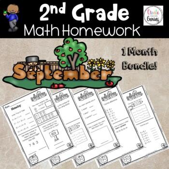 2nd Grade Math Homework- September