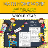2nd Grade Math Homework - WHOLE YEAR - w/ Digital Option -