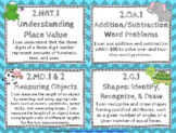 """2nd Grade Math """"I CAN"""" Statements for Common Core State Standards (Second)"""