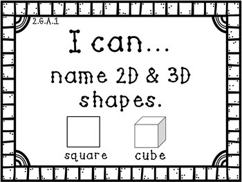 "2nd Grade Math ""I Can"" Statement Posters ~ Common Core Aligned"