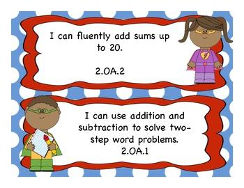 2nd Grade Math I Can Statements
