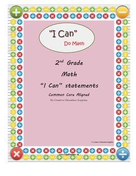 "2nd Grade Math: ""I Can"" Statements"