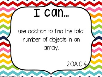 "2nd Grade ""I Can"" Statements: Math - Rainbow"