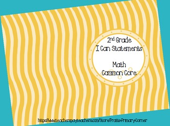2nd Grade I Can Statements Common Core Math- Ocean Theme