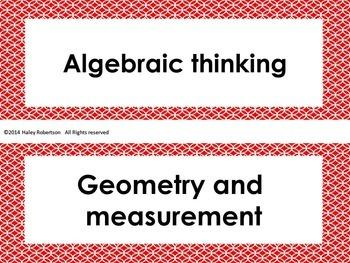 """2nd Grade Math """"I can"""" statements- Circle pattern (using TEKS)"""