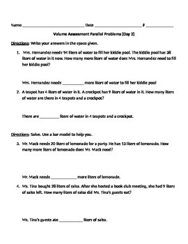 2nd Grade, Math In Focus, Chapter 9 Test Prep Parallel Problems