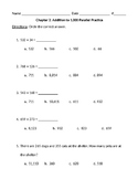 2nd Grade Math In Focus Parallel Practice Test Chapter 2 A