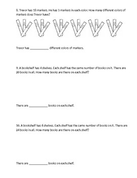 2nd Grade Math In Focus Parallel Test Chapter 5 Multiplication & Division P3