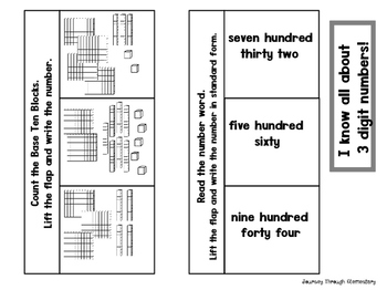 Addition with Regrouping and place value Interactive Notebook