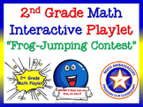 """2nd Grade Math Interactive Playlet: """"Frog-Jumping Contest"""""""